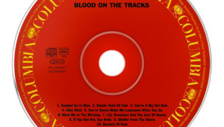 "Wierden, the Netherlands - September 30, 2011 : The CD ""Blood on the tracks"" by the famous American singer songwriter Bob Dylan, born as Robert Zimmerman. The album was recorded in 1974 and is supposed to be one of Dylan's most popular all-time albums."